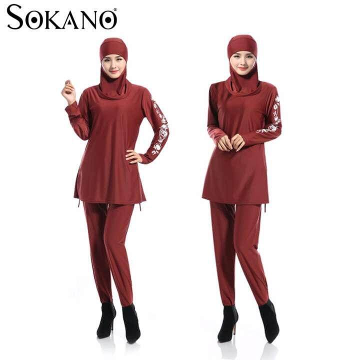 Fashion Ladies Muslimah Women Swim Suit Wear Sport Clothing - Red