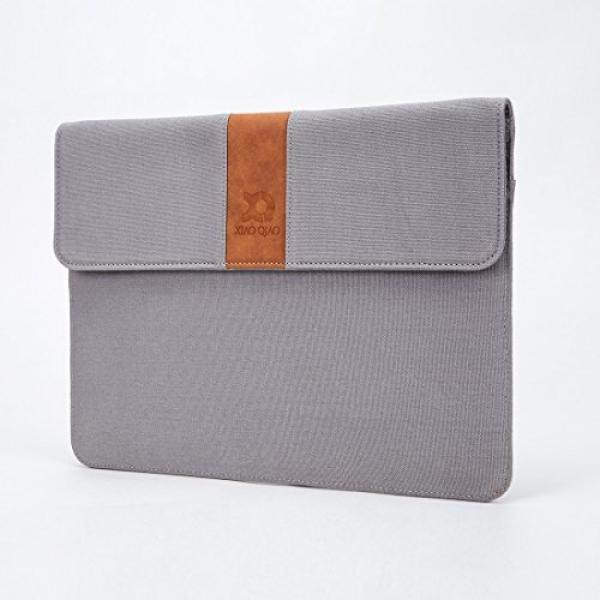 Laptop Sleeves Laptop Sleeve XIAO QIAO 13 inch Protective Ultra Slim Canvas Laptop Bag Cover Case for 2016/2017 New MacBook Pro A1706/A1708 or 12.9 Inch iPad Pro, HP, Dell, (Dark Gray) - intl