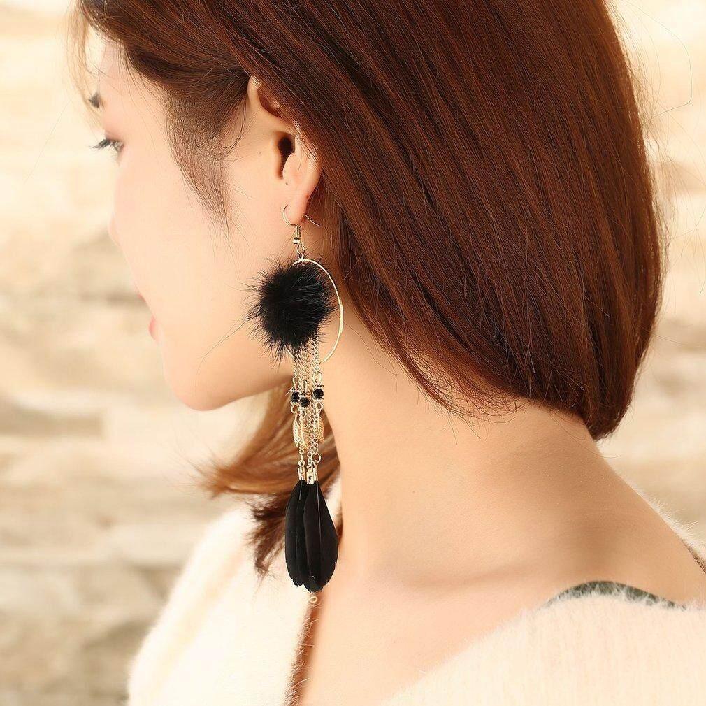 Liontin Bulu Anting-anting Perhiasan Fashion Mewah Anting-Anting Yang Indah Anting-anting