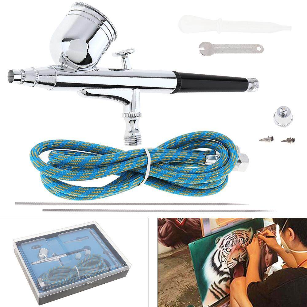 TD-130K 7CC Gravity Double Action Airbrush Kit Spray Power Tools with Nylon Tube / Needle and 0.2/0.3/0.5mm Nozzle for Process Craft