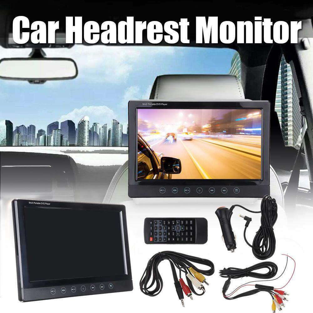 【free Shipping + Flash Deal 】9 Inch Digital Tft Lcd Universal Car Dvd Headrest Monitor Player Remote Control By Motorup.