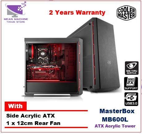 Cooler Master Masterbox MB600L Acrylic Gaming ATX Chassis Malaysia