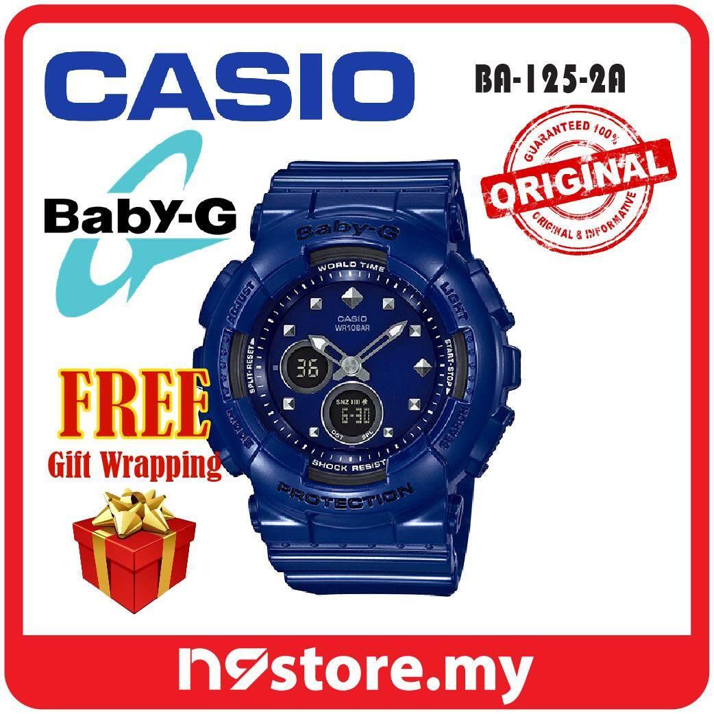 Casio Baby-G BA-125-2A Analog Digital Glossy Blue Ladies Sports Watch