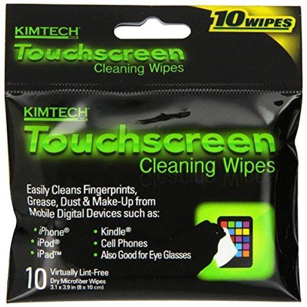 Kimberly-Clark Kimtech Touchscreen Cleaning Wipes, 10-Count Wipes, Pack of 2