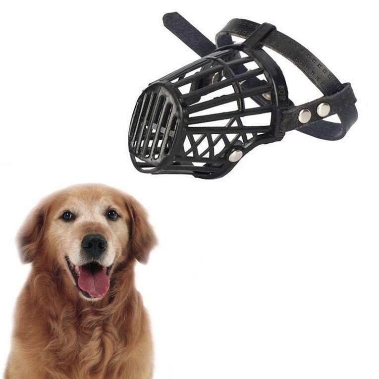 Kuat anjing moncong keranjang anti-menggigit tali penutup mulut anjing disesuaikan topeng 4 #