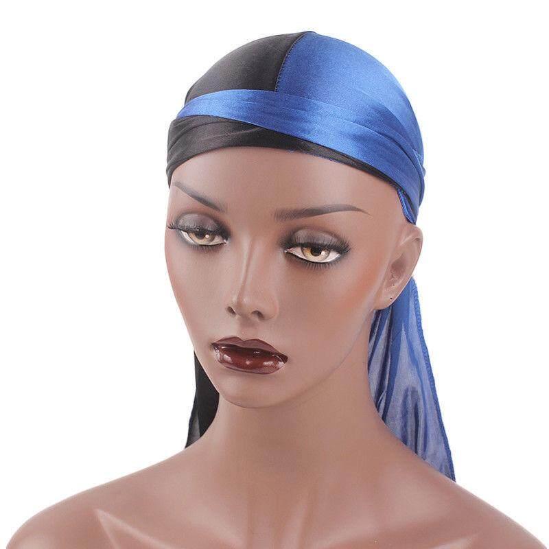 Solid Fashion Wanita Pria Halus Durag Pembungkus Kepala Topi Musim Panas  Bandana Kain . 27dec4a731