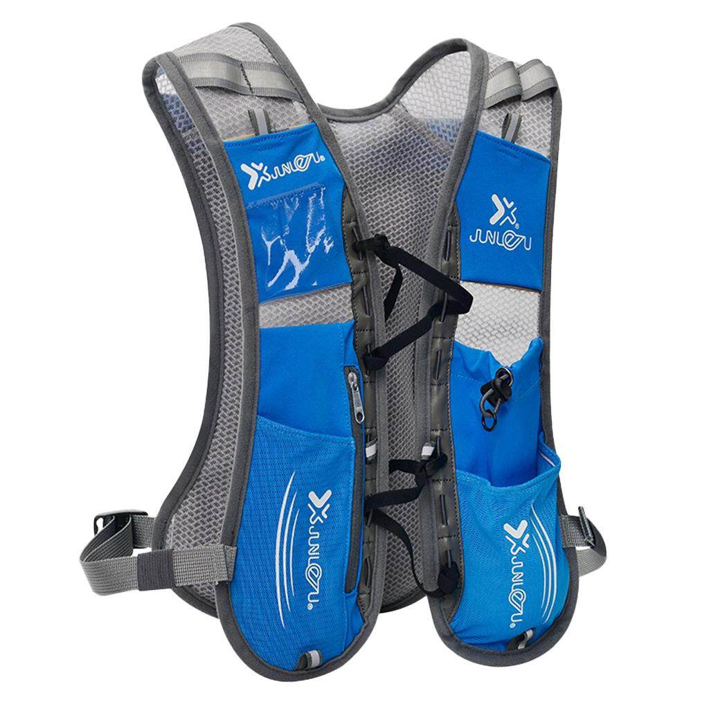 MagiDeal Hydration Pack Backpack Water Bladder Bag Rucksack Cycling Running Bue