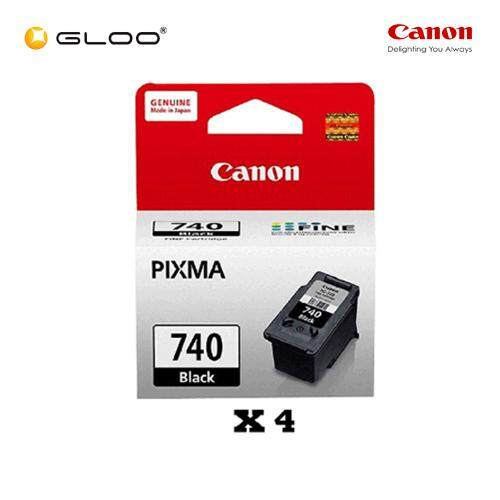 [Set of 4] Canon Fine 11 PG-740 Ink Cartridges - Black