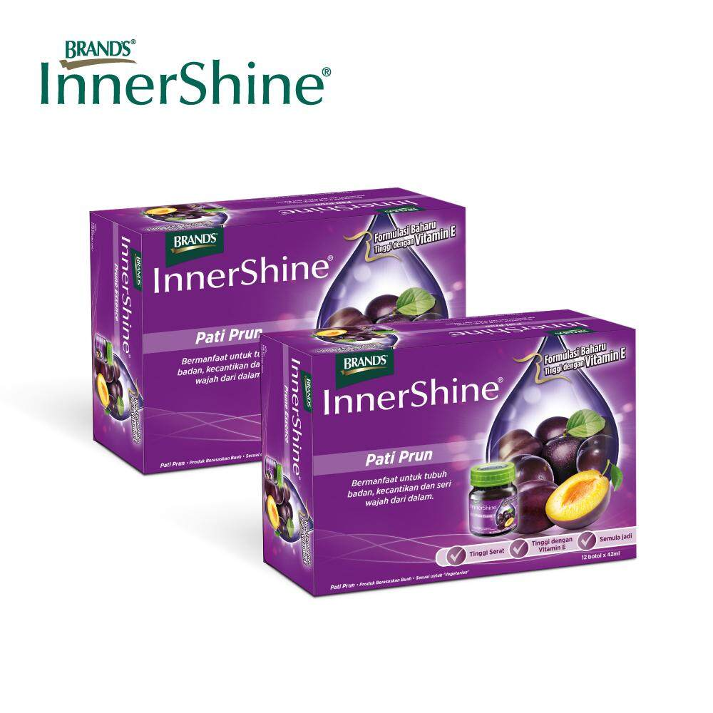 BRAND'S InnerShine Prune Essence Twin Pack (2x12's) - 24 bottles x 42ml