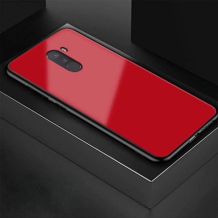 Untuk Xiaomi Pocophone F1 Kaca Case HD Seluruh Badan Kembali Pelindung Kuat