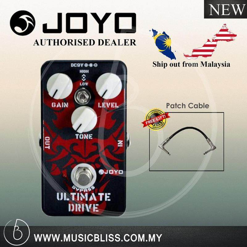 Joyo JF-02 Ultimate Drive Guitar Effects Pedal with Free Patch Cable (JF02) Malaysia