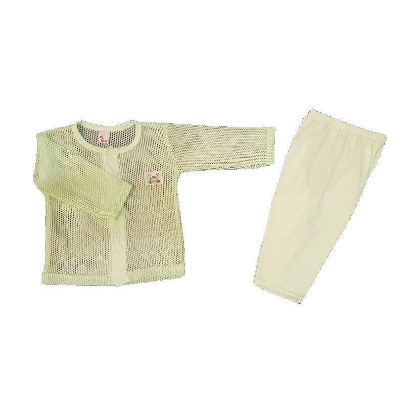 Newborn & Baby 3 SET Eyelet Pajamas For Under 12 Month