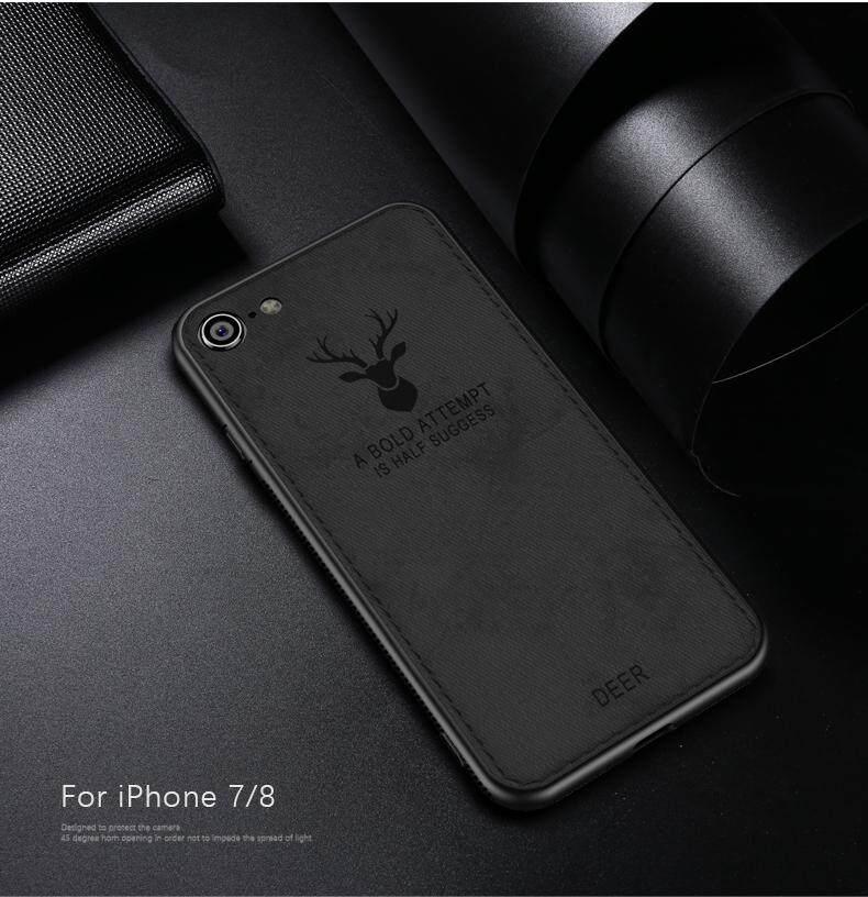 Rp 75.000. Rusa Kain Ponsel Pelindung untuk IPHONE 7/8 Lembut TPU Silicon Bingkai Penuh Kotak Sarung ...