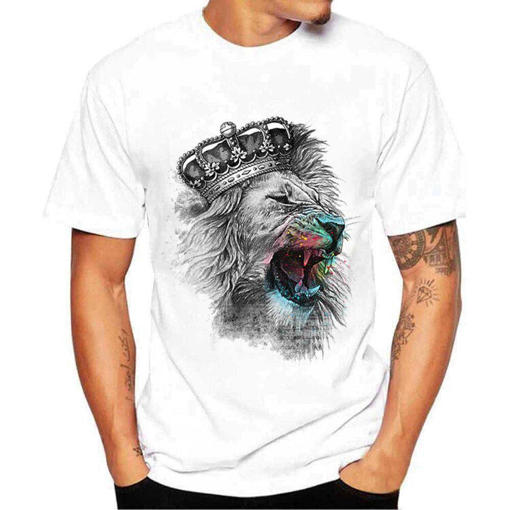 Popular T Shirts For Men The Best Prices In Malaysia Tendencies Tshirt Flash Rainbow Putih S Printing Tees Shirt Short Sleeve Blouse Bluelansie