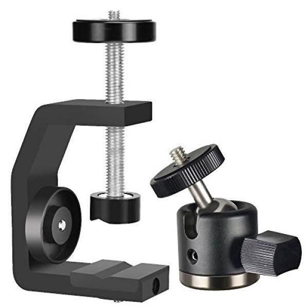 Utebit Mini Kepala Tripod dengan C Klem Dudukan Kamera Set 360 Derajat Putar Bola Kepala Mount Max Membuka 60 Mm DSLR dudukan Kamera Clamp dengan 1/4 Screw Thread untuk SLR DSL Kamera Perkakas Bertualang-Intl