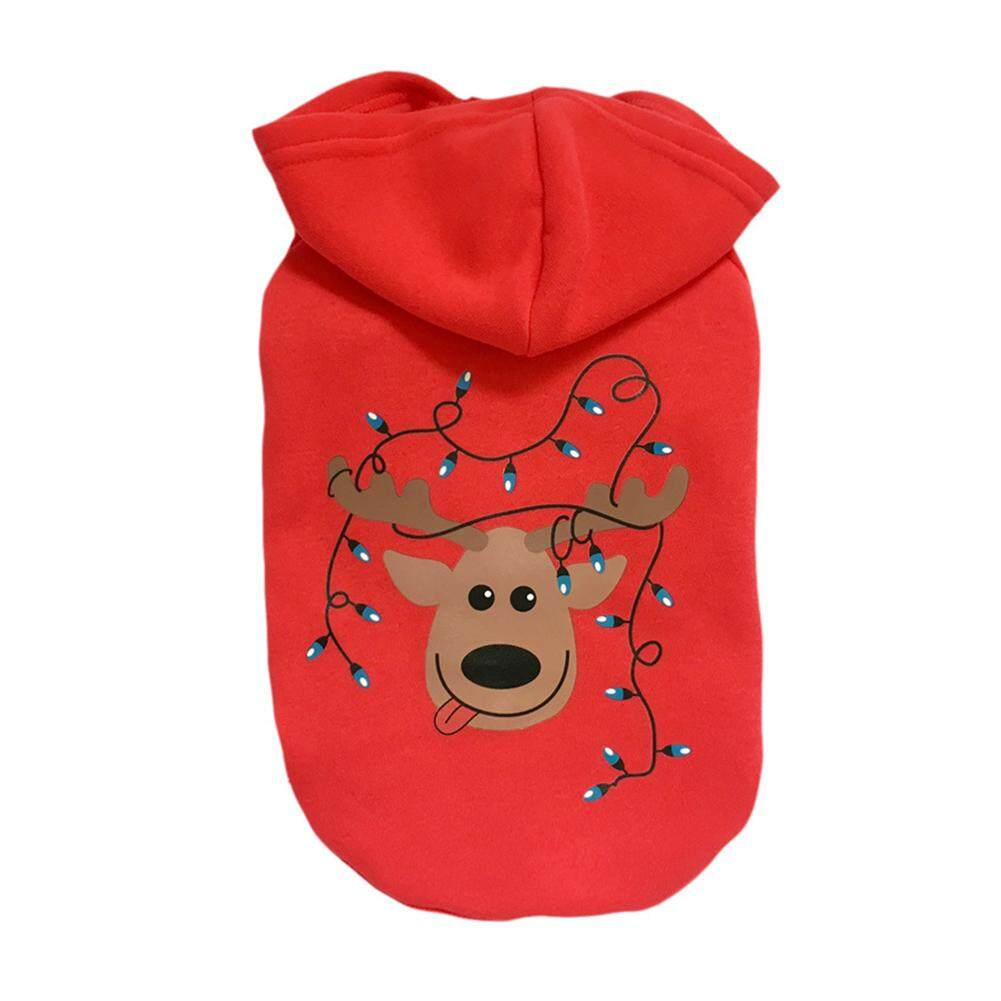 New Pet Warm Hoodie Dog Cat Jacket Coat Puppy Clothes Winter Sweater Christmas Apparel [Not