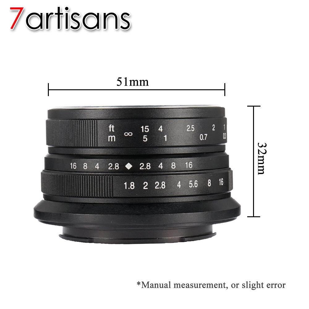 Features 7artisans 25mm F1 8 Manual Fixed Lens For Fuji Microsingle 12mm F 28 Black F18 Cameras Fx Mount
