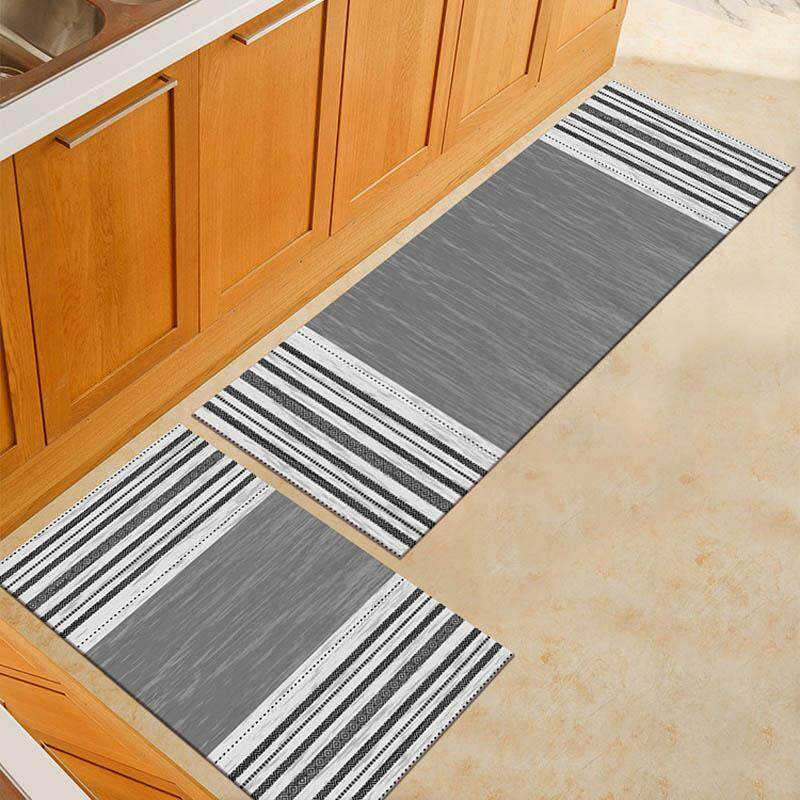 2pcs/set Long Kitchen Mat Set Non-slip Home Living Room Bedroom Floor Carpet Entrance Doormat Porch Hallway Area Rug 40x60cm and 40x120cm