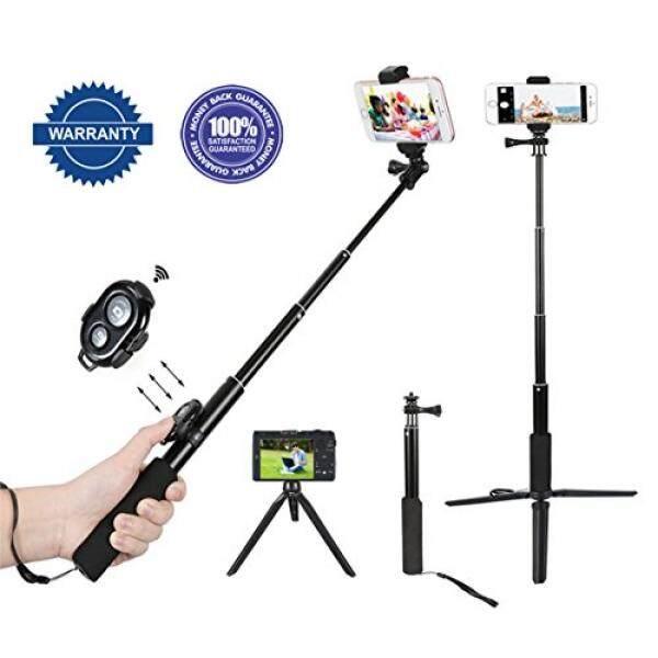 Selfie Tongkat & Tripod S Selfie Tongkat nirkabel Bluetooth Selfie Stick Ponsel Selfie Tongkat Monopod Dapat Diperpanjang Tripod iPhone untuk iPhone X, 7 Plus, 6 Plus samsung, Ponsel Android, Kamera Digital dan GoPro-Intl