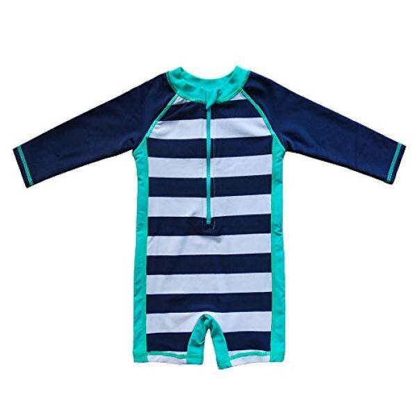 Baby Beach One-Piece Swimsuit Upf 50+ -Sun Protective Sunsuit Blue,onths By Buyhole.