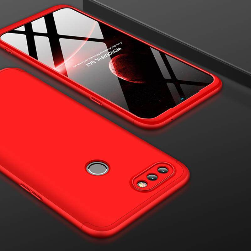 Untuk OPPO Realme 2 Pro Seluruh Badan Casing Anti Goncangan Ultra-Tipis 3 In 1 Dilepas Anti Gores PC Wadah Penutup