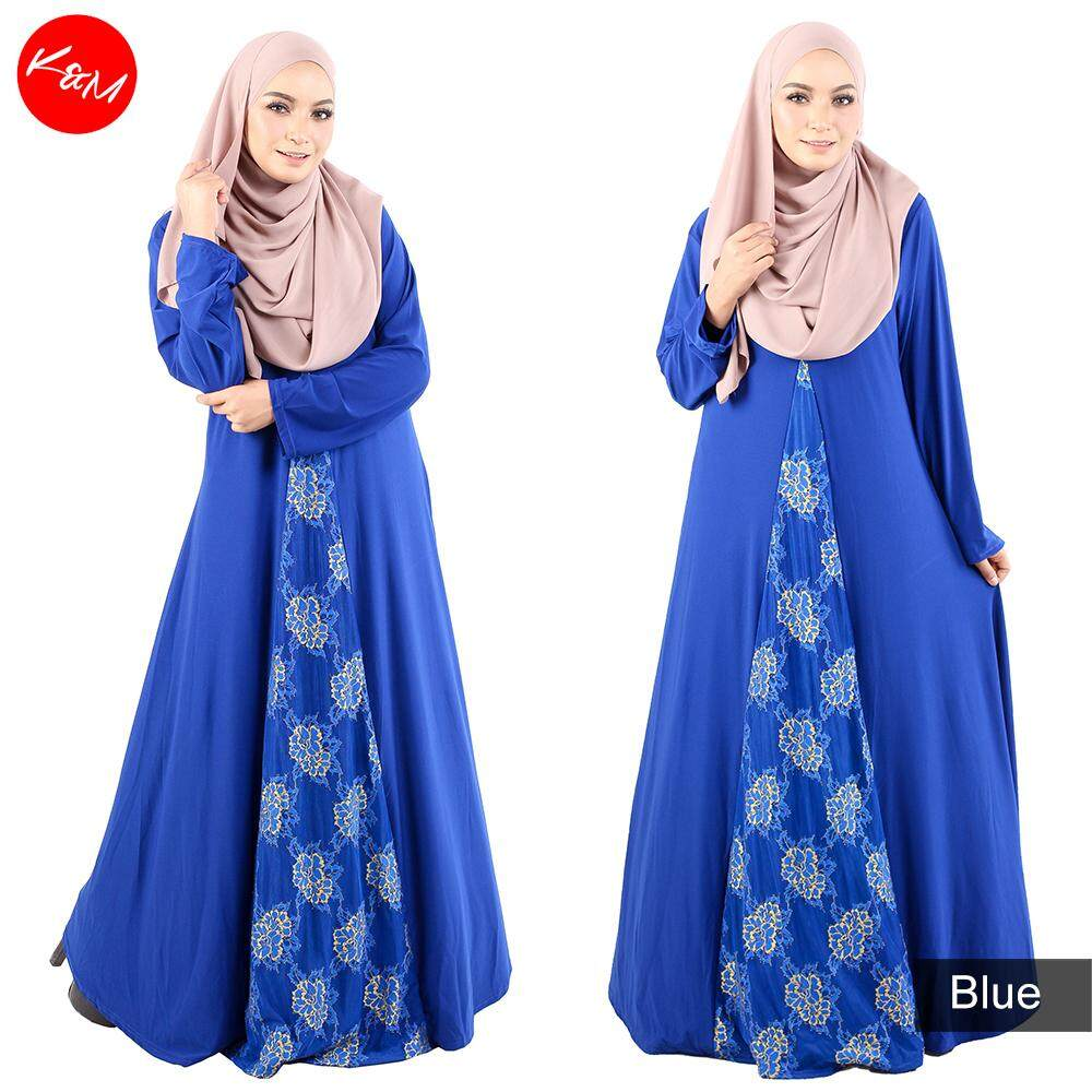 KM Lace Up Flare Jubah [M14527]