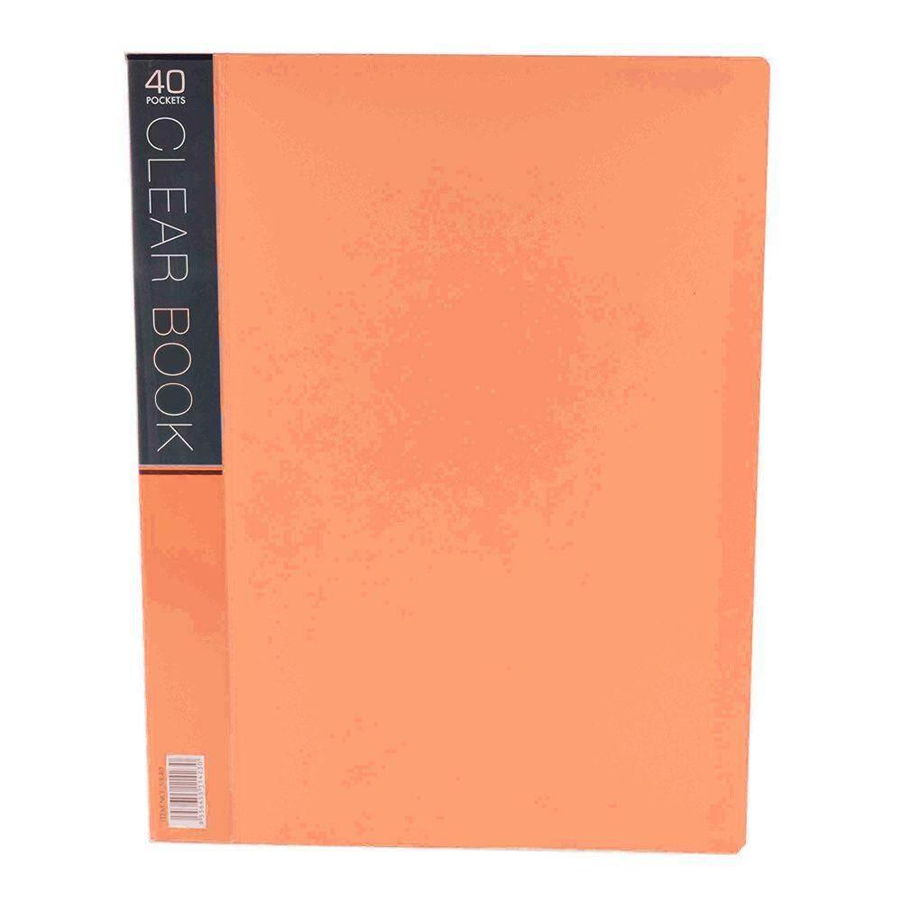 CBE Merry Colour Clear Book VK40 A4 - Orange (Item No: B10-56 O) A1R5B27