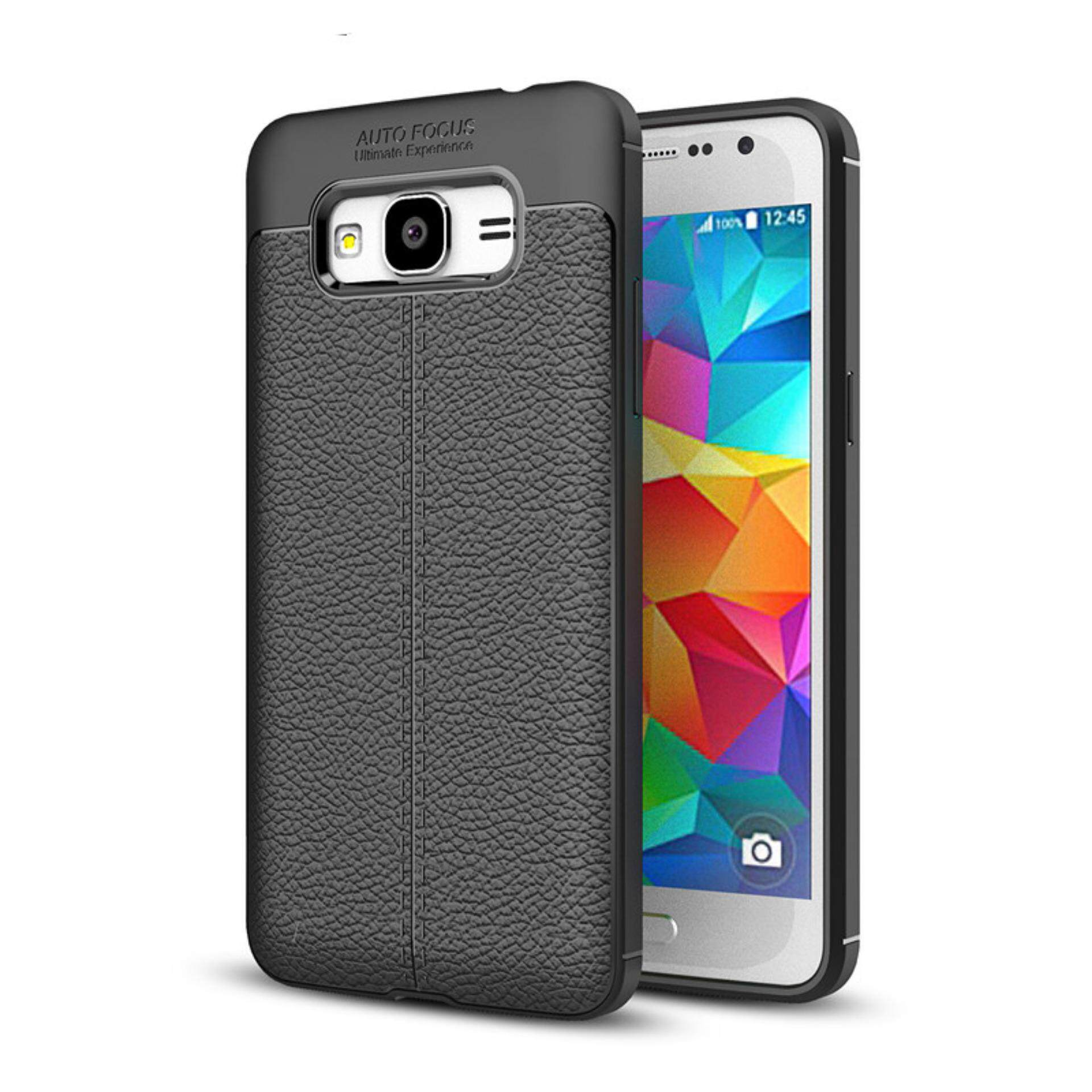 For Samsung J1 Mini Prime/J106 Case Litchi Pattern Leather Soft TPU Silicone Shockproof Protective