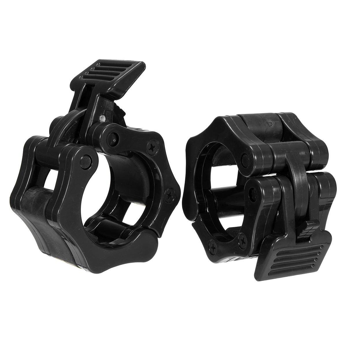 1 Pairs 25/50mm Olympic Barbell Lock Clamp Collar Clip Dumbbell Spinlock [50mm Black] By Freebang.