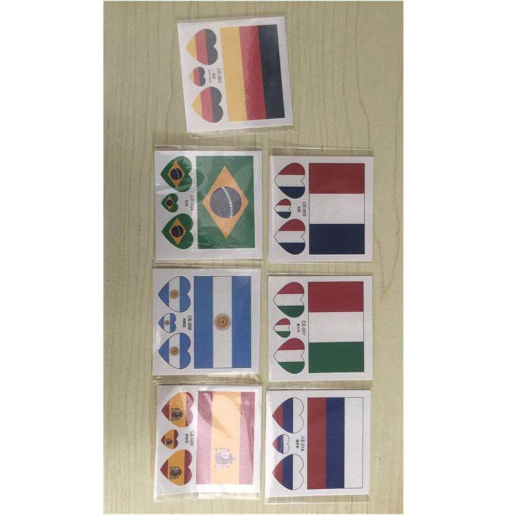 Hình ảnh Hossen 10 Sheets Same Temporary Tattoos Eco-friendly Waterproof National Flag Tattoo Stickers for 2018 World Cup