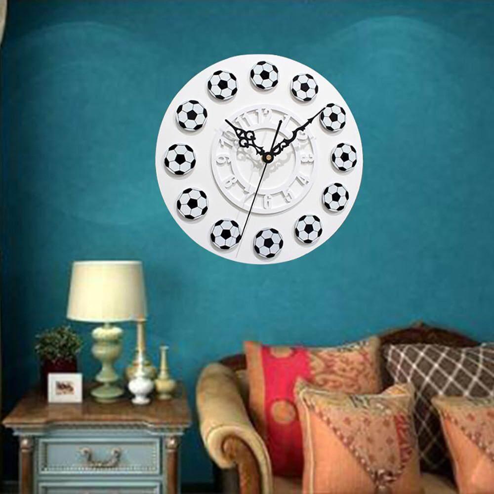 Features Tertran Football Style Non Ticking Acrylic Wall Clock Home ...