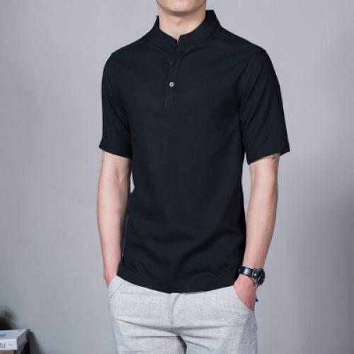 8c7988d29d83 Plus Size 5XL 2018 New Cotton Linen Men Shirt Casual Short Sleeve Male  Shirt Slim Fit