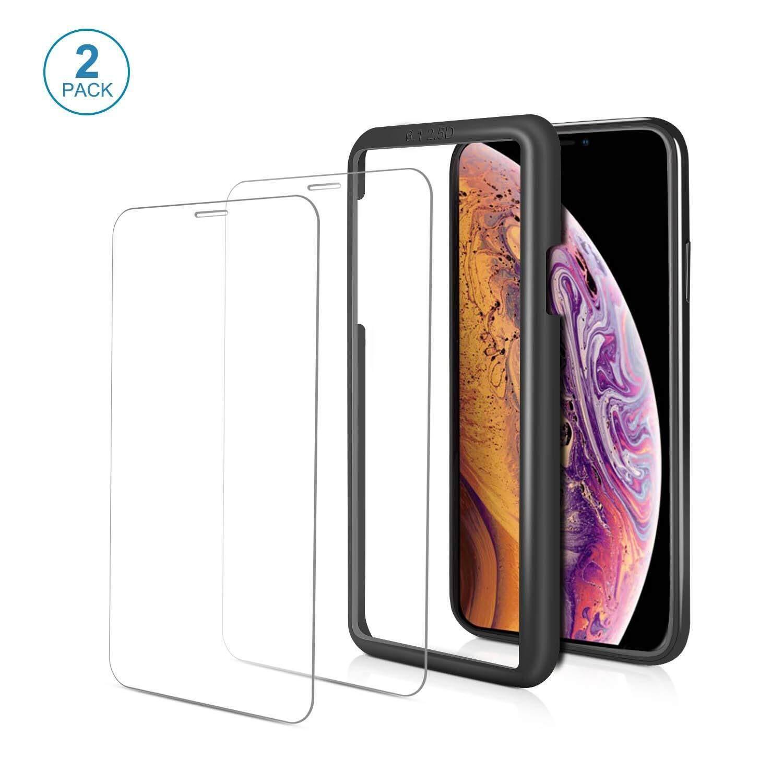 Itrunk Pelindung Layar untuk iPhone X Max [6.5 ''Inch] 9 H Kaca Antigores Pelindung Layar dengan Tinggi Respon dan Tinggi Transparansi [2 Pack] Premium Clear Anti-Shatter Film Pelindung dengan Kerangka Disesuaikan