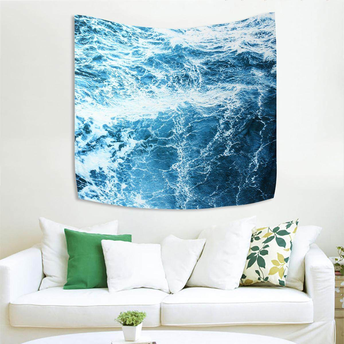 210cm x 150cm Art Wall Tapestry Ocean Wave Tapestry Wall Hanging Wall Tapestry Home Decoration