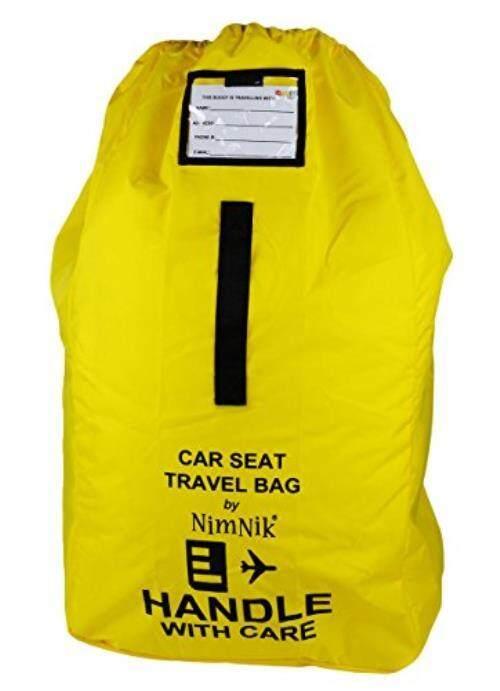 Kursi Mobil Tas Perjalanan-Ultra Kasar Nilon Balistik, terbaik untuk Bandara Pemeriksa Gerbang Di Tas untuk Kursi Mobil Nyaman Tali Bahu Lembut dan Pegangan, Kuning-Intl