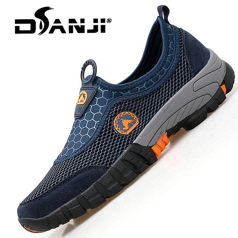 Danji 2018 Baru Pria Sepatu Jala Kasual Bernapas Musim Panas Kulit Sapi Sepatu  Eropa Mencondongkan Kasual 644dc508b1