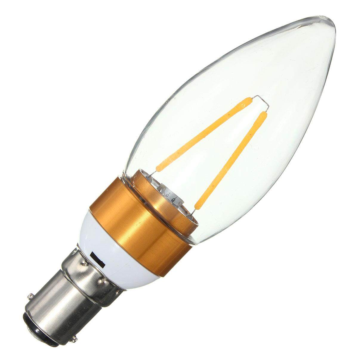 2W Edison Filament COB LED Chandelier Candle Lights Bulb Lamp (B15 Warm White) - intl