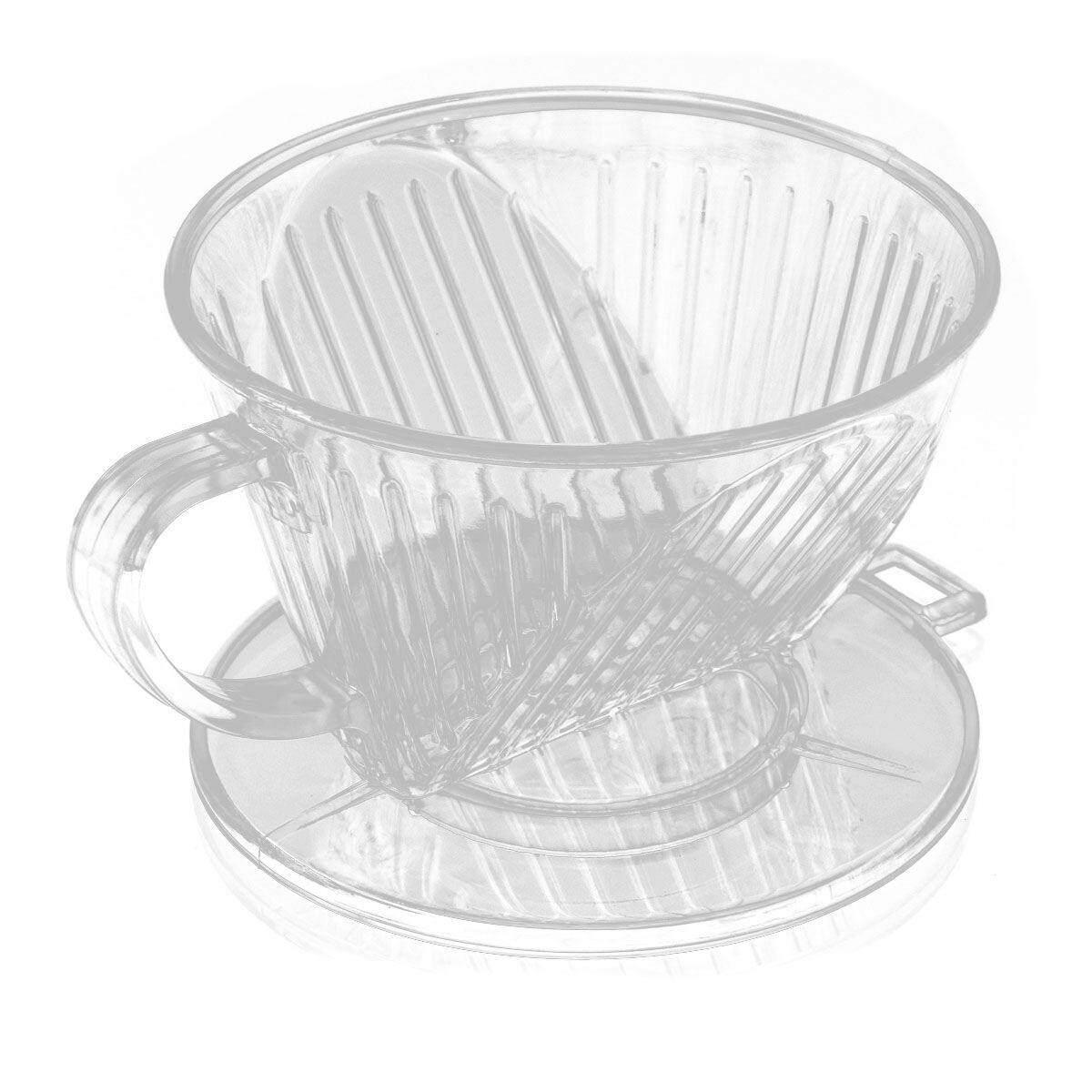 Clear Coffee Filter Cup Cone Maker Brewer Holder Plastic Reusable By Happyang.