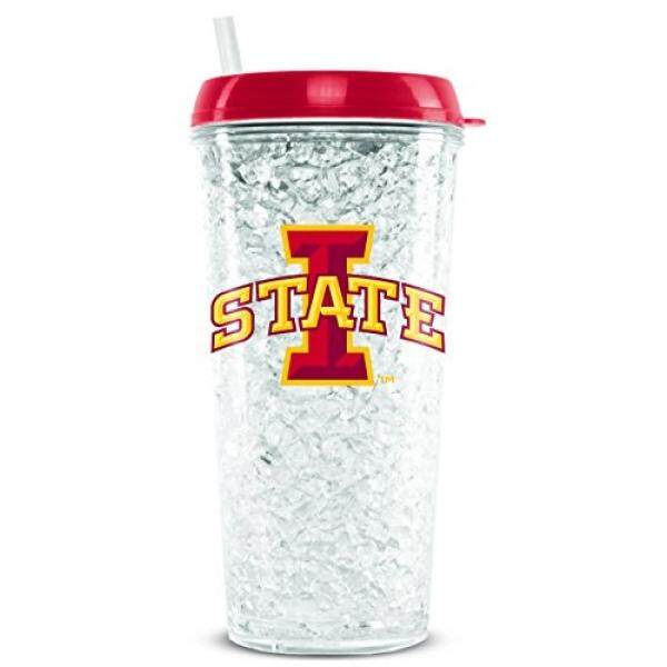 Tumblers Duck House NCAA Iowa State Cyclones 16oz Crystal Freezer Tumbler with Lid and Straw - intl