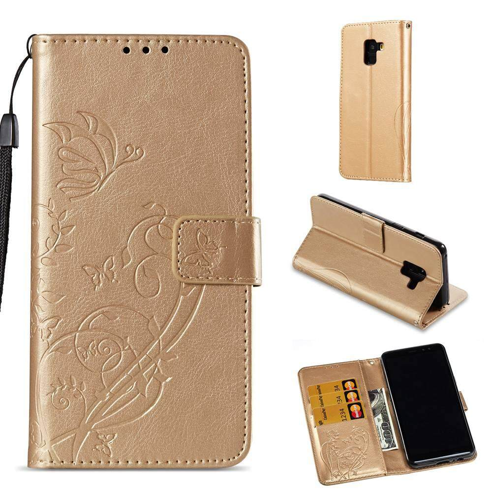 Fitur For Samsung Galaxy S8 Plus Pu Leather 3d Pattern Wrist Strap