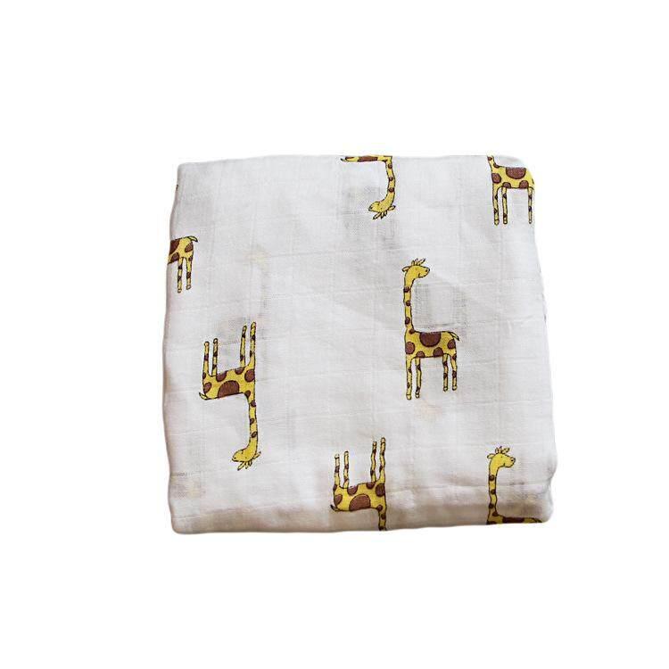 RHS Online Muslin 100% Cotton Baby Blanket Swaddle Wrap Nursery Cover Newborn Bath Gauze Infant Sleep Sack - intl