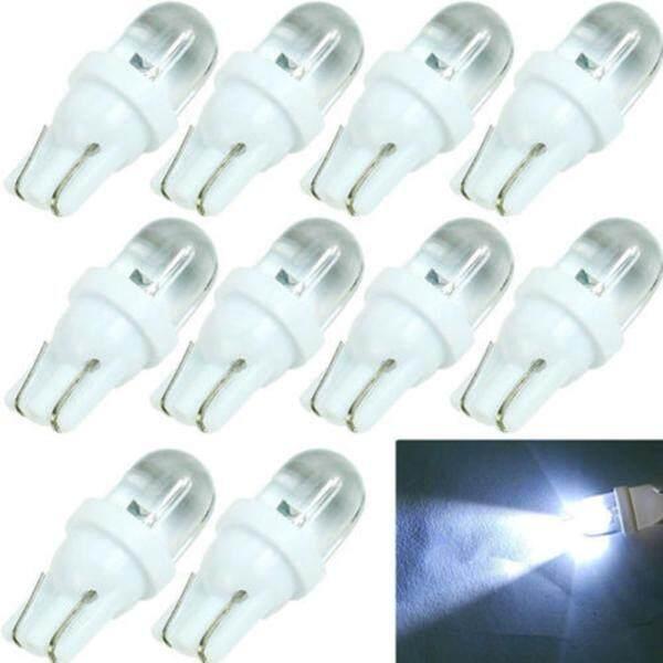 Bộ 10 bóng đèn LED T10 đui hình nêm 12V 5W dùng cho biển số xe làm vườn bàn học giá tốt - INTL