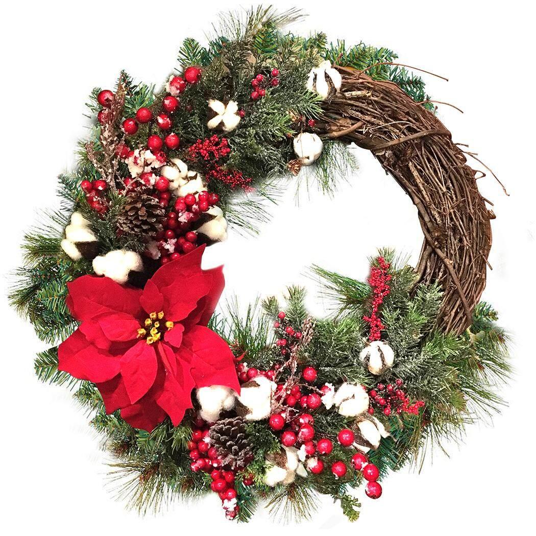 Artificial Christmas Wreath Stylish Christmas Decor Wreath Hanging Wreath for Door Window Decor