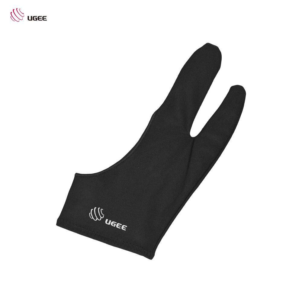 UGEE Free Size Two-Finger Drawing Glove Anti-fouling Black Suitable for Right & Left Hand for Artist Tablet Drawing - intl