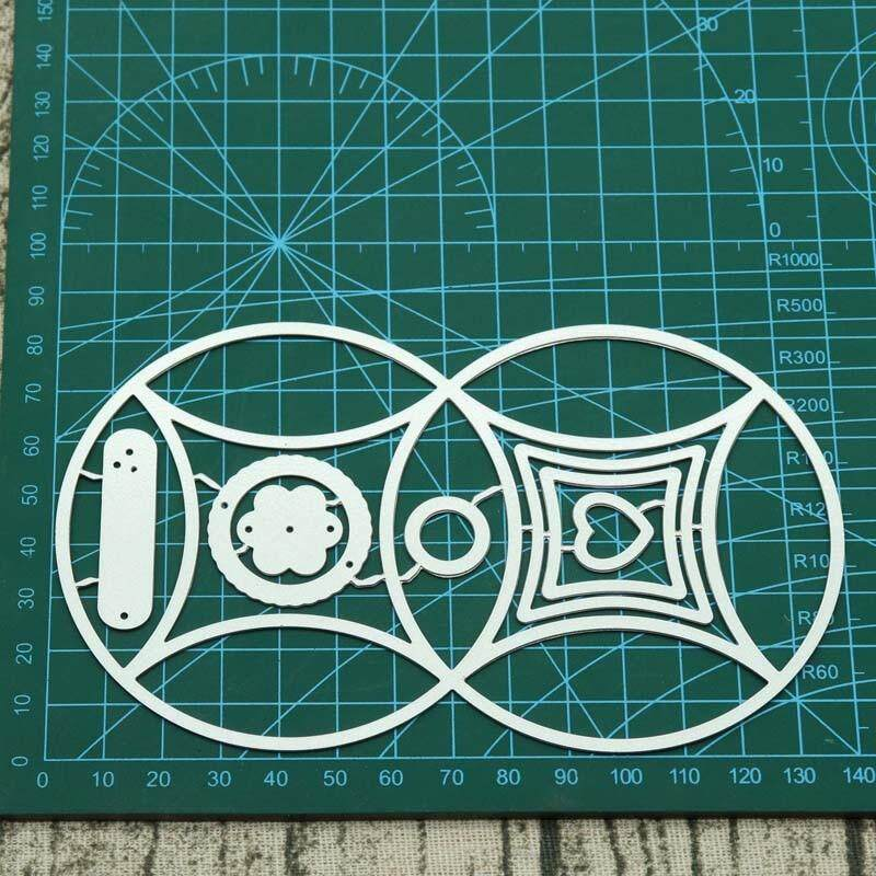 Fancyqube Round box Metal Cutting Dies New Craft Stamps die Cut Embossing Card Making Stencil Frame
