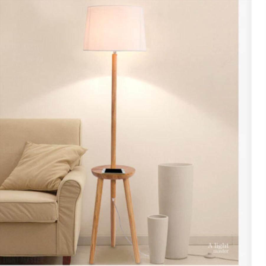 Wooden Lamp Lamp Floor Lamp New Nordic Wood Gift Lamp Full Wood - intl