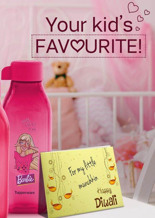 Tupperware Square Barbie Bottle (1) 500ml - Pink - Oversea Stock