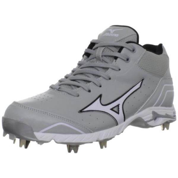 Mizuno Mens Mizuno 9-Spike Advanced Classic 7 Baseball Shoe,Grey/White,15 M US - intl