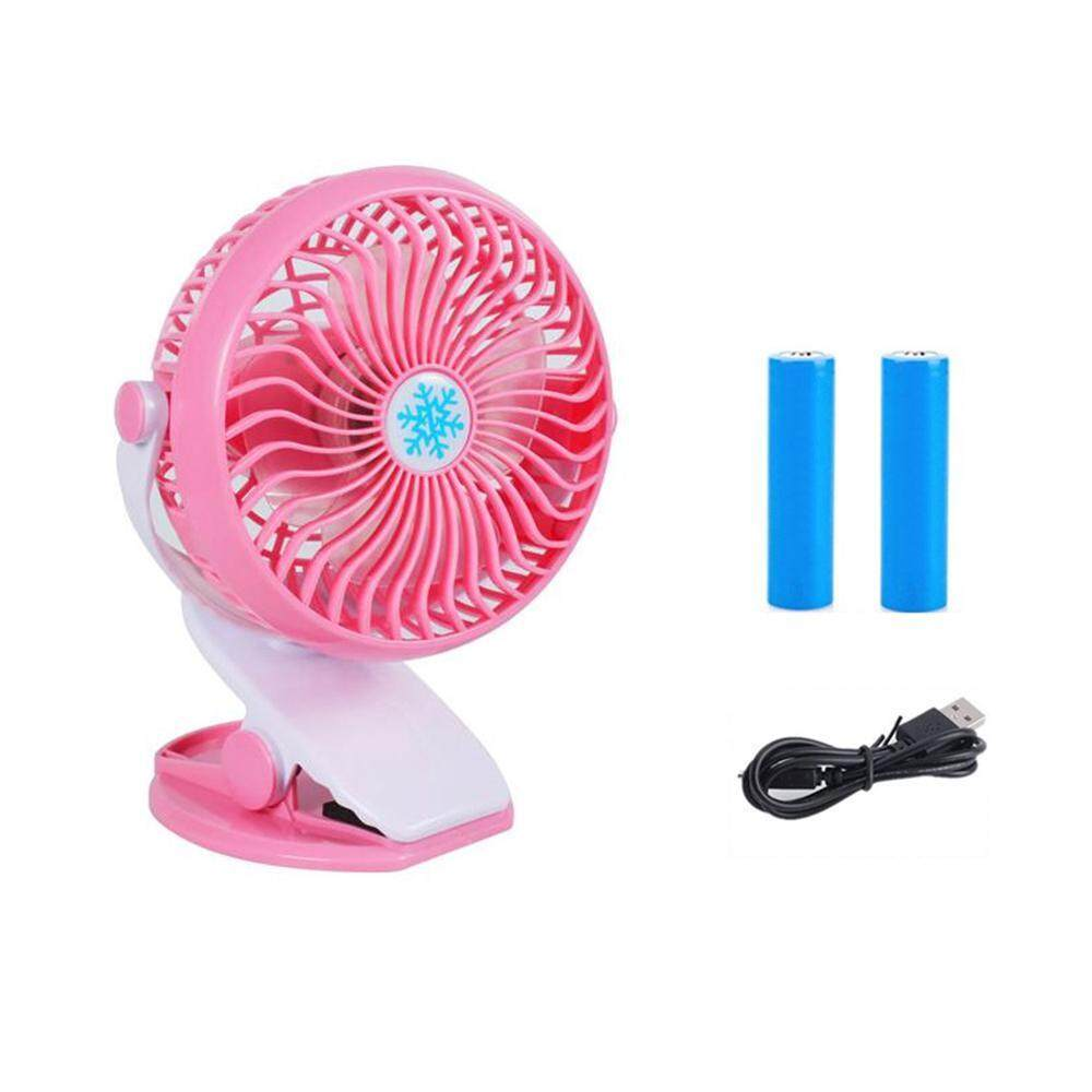 OrzBuy MINI USB Fan, Clip On Fan, Portable Rechargeable Desk Fan For Baby Stroller, Car Gym Home Office Outdoor Traveling And Camping - intl