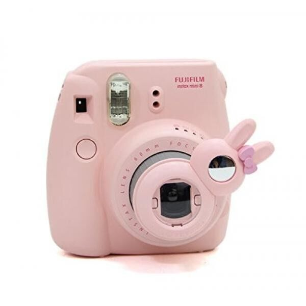 [Fujifilm Instax Mini 7s 8 8+ 9 Selfie Lens] -- CAIUL Rabbit Style Instax Close Up Lens with Self-portrait Mirror for Fujifilm Instax Mini 8 8+ 9 7s Camera and Polaroid PIC-300 (Pink)
